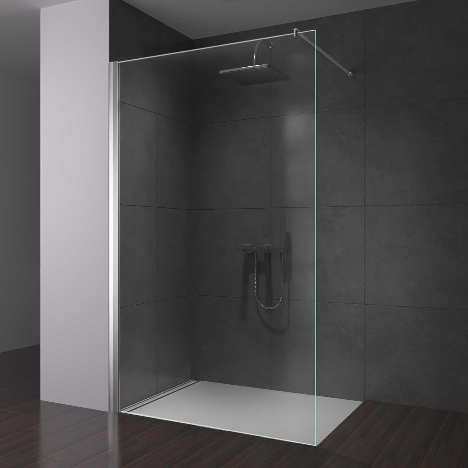 Glas Duschwand für Walk in Dusche konfigurieren   Spiegel20