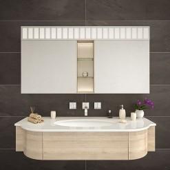 Bad Spiegelschrank mit LED Licht (Einbau) - LÜNEBURG