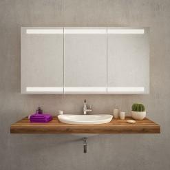 Badezimmerspiegelschrank beleuchtet LED - AACHEN