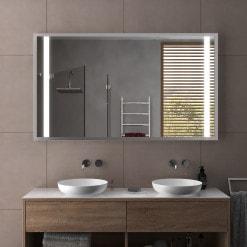 Beleuchteter Spiegel mit Rahmen - Schwerin