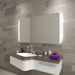 Badspiegel mit abgerundeten Ecken M05L2VR
