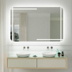 Badspiegel mit Rundungen M517L4R