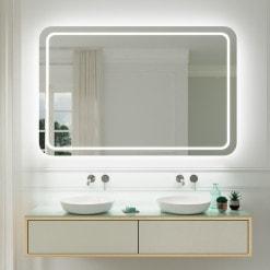 Badspiegel Ecken abgerundet F586L4R