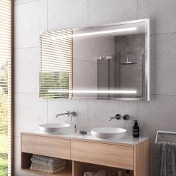 Spiegel mit Rahmen schwarz/silber - Trier