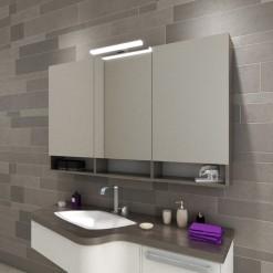 Spiegelschrank mit Leuchte Pandora und Ablage fürs Bad