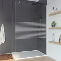 Glaswand nach Maß Walk-in Dusche LINEA 5
