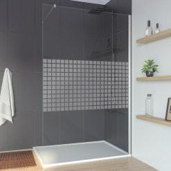 Walk-in Dusche Glas Seitenwand nach Maß CARRE 1