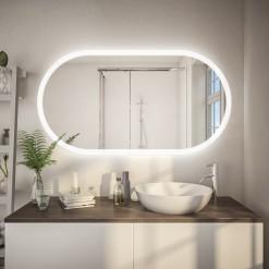 Spiegel mit Beleuchtung abgerundet F602L4K