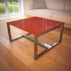 Glas Tischplatte Rot - REF 1586
