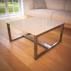 Glasplatte Tisch Hell-Beige - REF 1015
