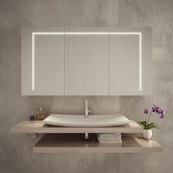 Bad Spiegelschrank mit Beleuchtung - CLEVELAND