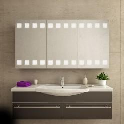 Badspiegelschrank beleuchtet, Auf-/Unterputz - ATHEN