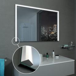 LED Lichtspiegel nach Maß, opt. mit Uhr - Rheine 3