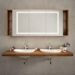 Spiegelschrank mit Ablage - SARAGOSSA