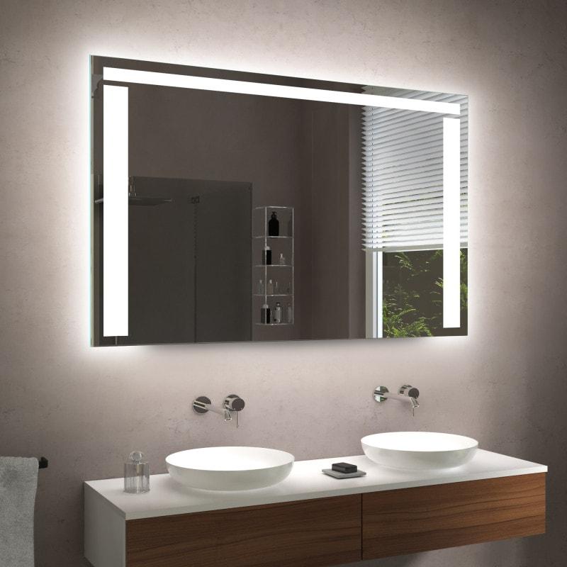 spiegel badezimmer beleuchtet m545l3 badezimmerspiegel led uhr