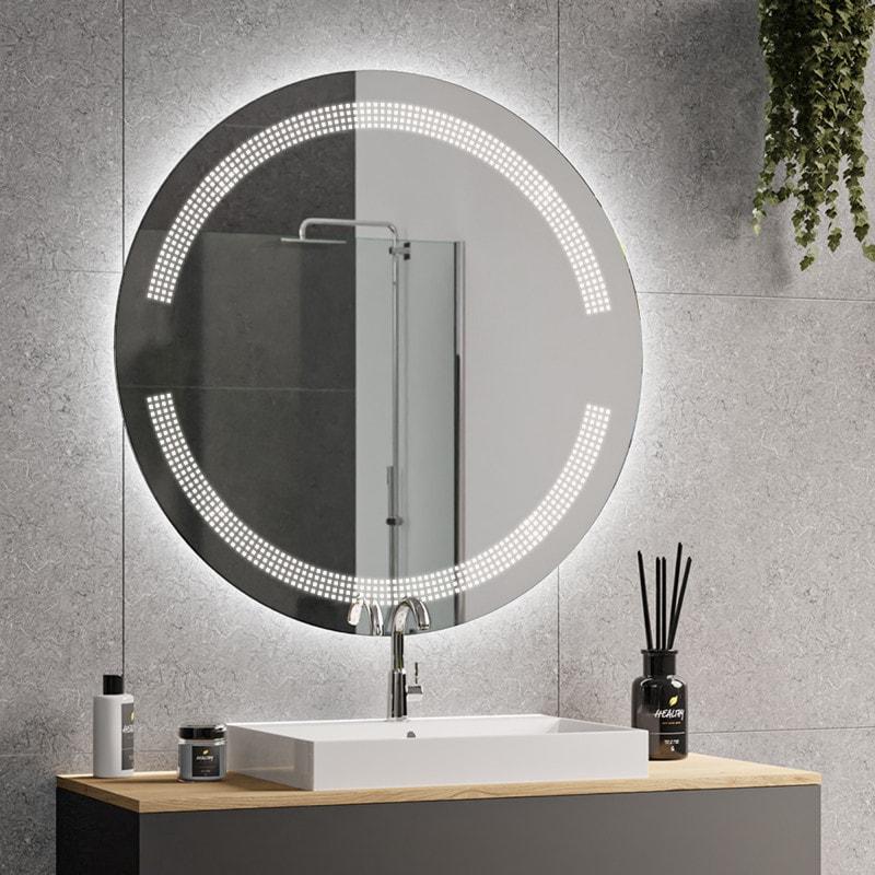 ophelia badezimmerspiegel rund mit beleuchtung 09 online kaufen. Black Bedroom Furniture Sets. Home Design Ideas