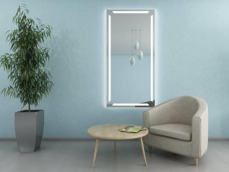 ella rahmenloser wandspiegel beleuchtet online kaufen. Black Bedroom Furniture Sets. Home Design Ideas