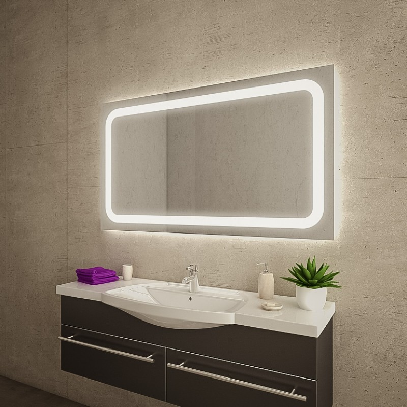 boku badspiegel mit led beleuchtung online kaufen. Black Bedroom Furniture Sets. Home Design Ideas