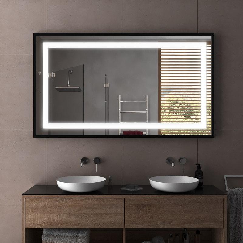 ulm spiegel mit rahmen silber schwarz. Black Bedroom Furniture Sets. Home Design Ideas