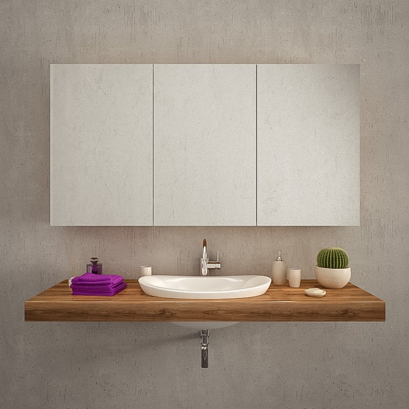 Spiegelschrank fürs Bad kaufen: mit Beleuchtung (LED), aus ...