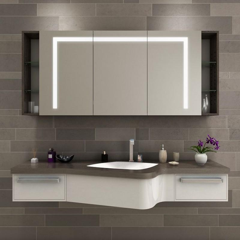 Kiruna - Badezimmerspiegelschrank beleuchtet kaufen | Spiegel21