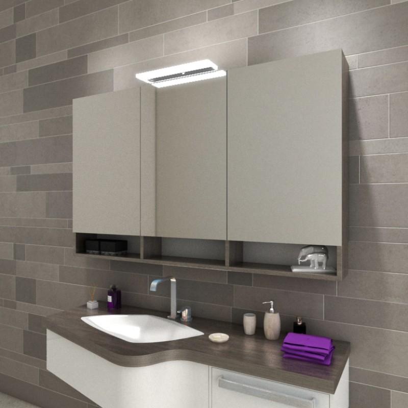 Bad Spiegelschrank mit Leuchte & Ablagen kaufen | Spiegel21