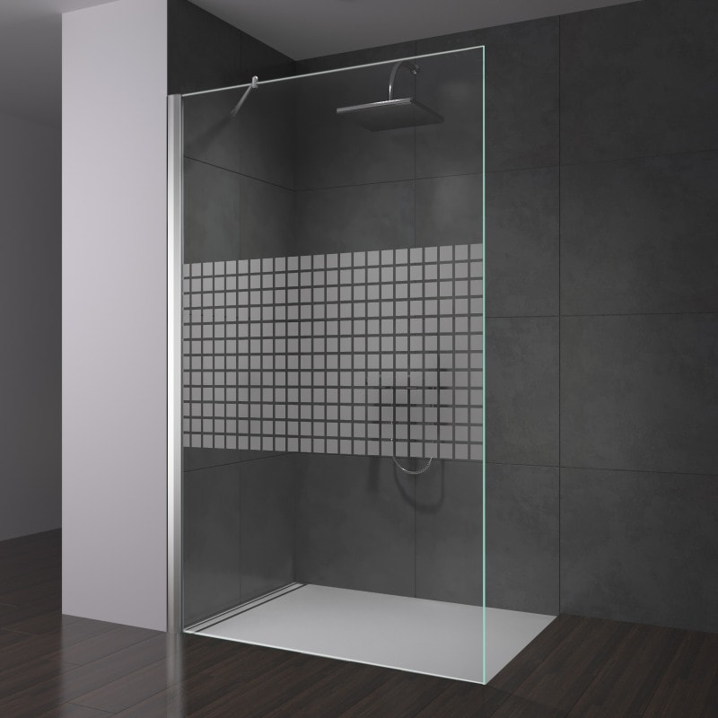 Walk-in Dusche aus Glas kaufen | Seitenwand nach Maß | Spiegel21