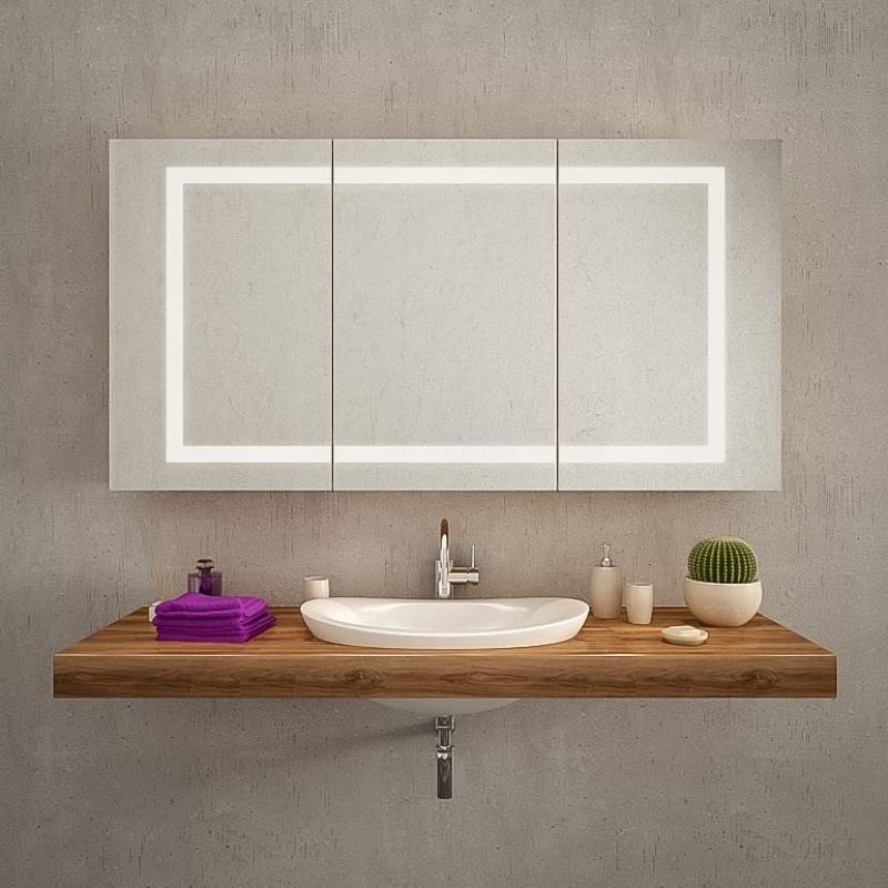 badspiegelschrank nach ma mit beleuchtung. Black Bedroom Furniture Sets. Home Design Ideas