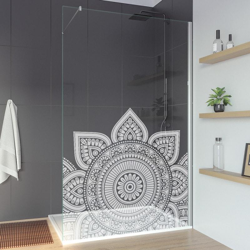 Duschglaswand Sondermaß mit Motiv MANDALA 1T