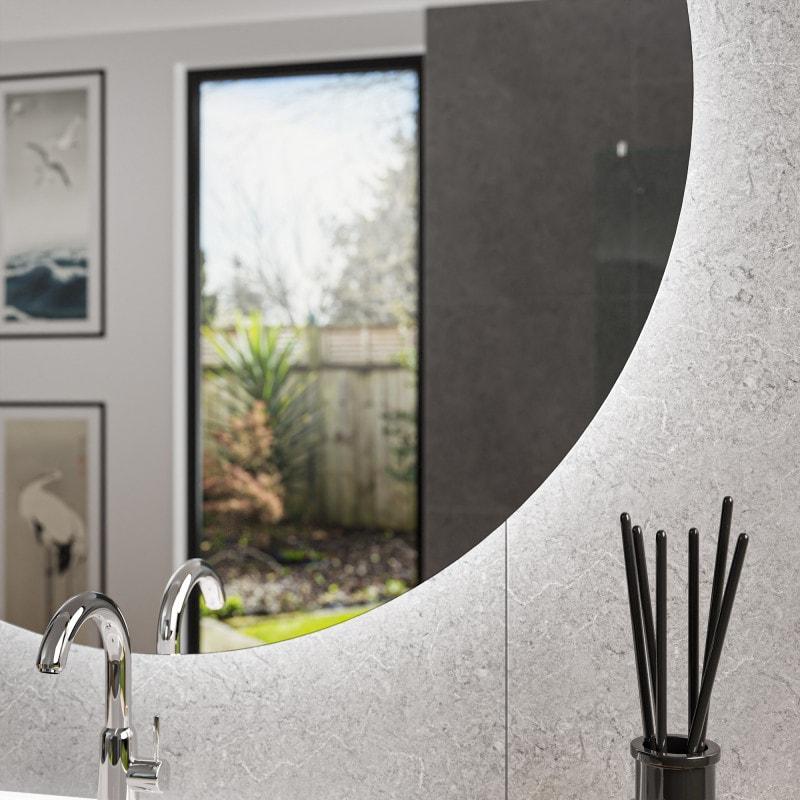 diana spiegel rund mit hintergrundbeleuchtung online kaufen. Black Bedroom Furniture Sets. Home Design Ideas