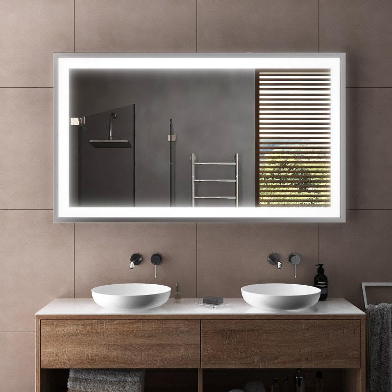 Rahmenspiegel schwarz/silber - Kiel