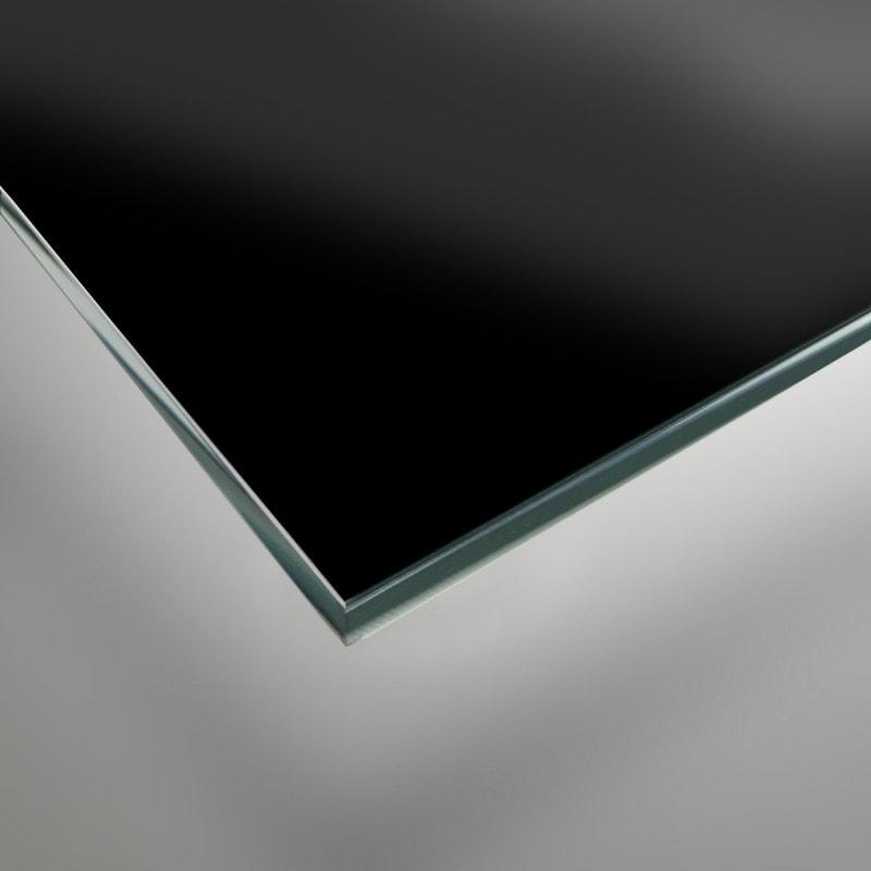 Schwarz lackiertes Glas - REF 9005, 6mm