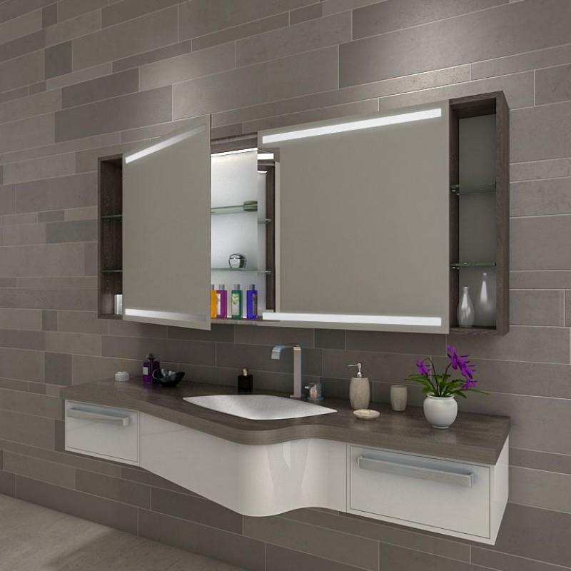 catania badezimmer spiegelschrank mit beleuchtung online kaufen. Black Bedroom Furniture Sets. Home Design Ideas