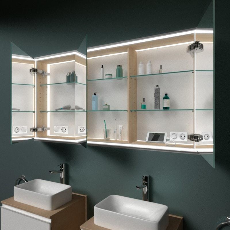 hamburg 1 spiegelschrank mit leuchtrahmen. Black Bedroom Furniture Sets. Home Design Ideas