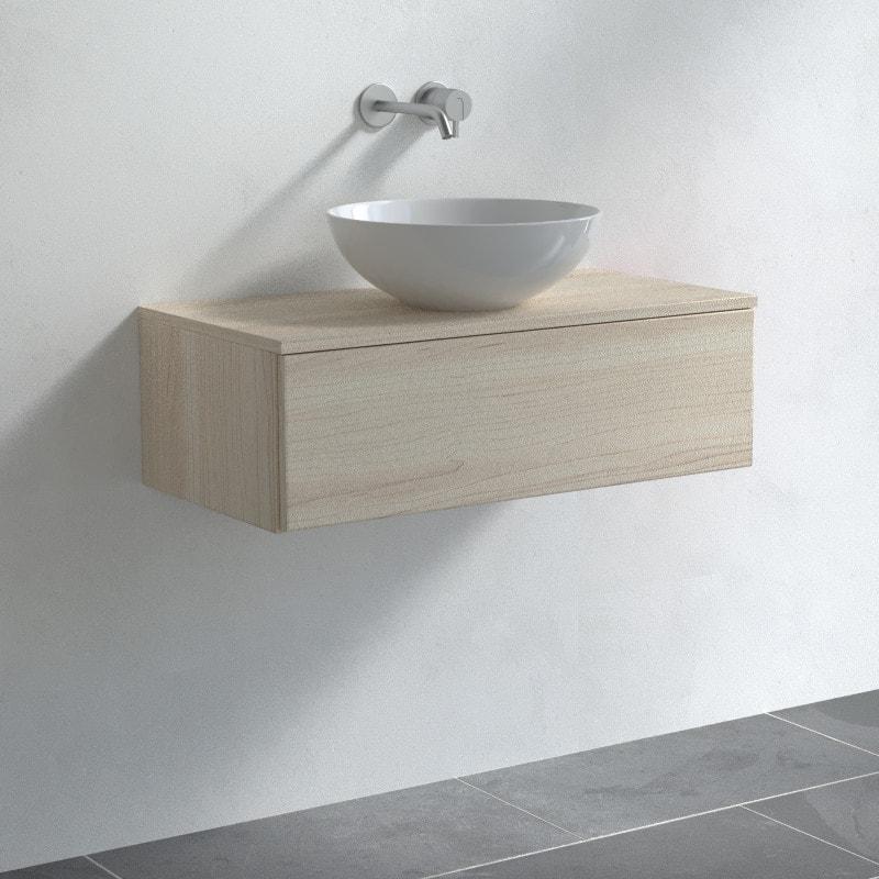 Waschbecken Unterschrank mit Auszug - Baltrum 01C