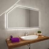 LED Badspiegel mit Dachschräge SDS101