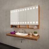 Badezimmerspiegelschrank mit Beleuchtung - TURKU