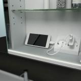 Dachschrägen-Spiegelschrank LED - Ambiente