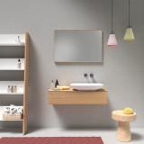 Spiegel mit Alu-Rahmen, Wunschdekor Holz oder Metall
