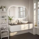 Badspiegel mit Rundbogen und Hintergrundbeleuchtung F596L4K