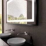 Spiegel mit Rahmen silber/schwarz - Ulm